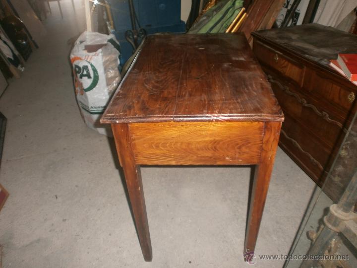 mesa de cocina antigua en madera con tiraror de - Comprar Mesas ...
