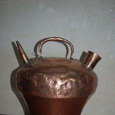 Antigüedades: ANTIGUO BOTIJO - CÁNTARO DE COBRE - 32 CM ALTURA - SIGLO XIX. Lote 47529797