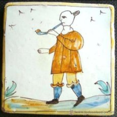Antigüedades: AUTENTICOS AZULEJOS CATALAN DE LOS LLAMADOS ARTES Y OFICIOS FINALES S XVIII. Lote 47413632