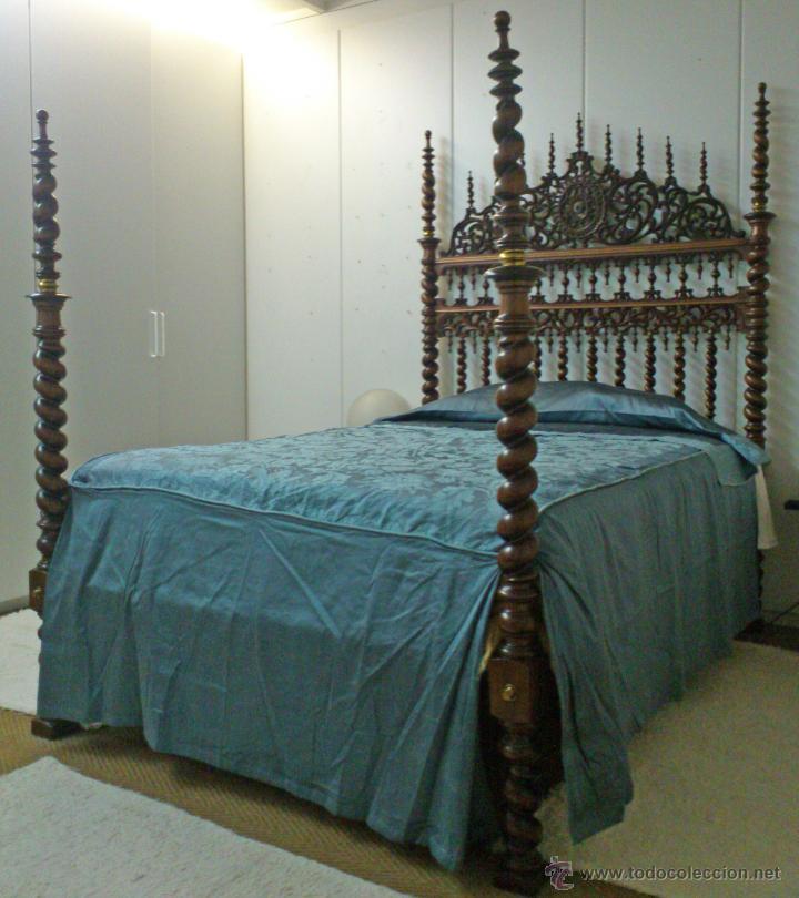 CAMA MALLORQUINA MUY BUEN ESTADO DE CONSERVACIÓN LLIT MALLORQUÍ (Antigüedades - Muebles Antiguos - Camas Antiguas)