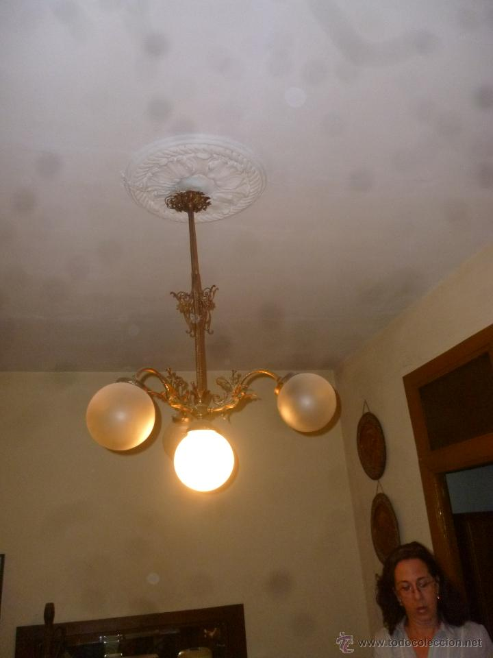 LÁMPARA DE TECHO ANTIGUA (Antigüedades - Iluminación - Lámparas Antiguas)
