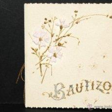 Antigüedades: ANTIGUO RECORDATORIO DE BAUTIZO TROQUELADO Y EN RELIEVE AÑO 1896. Lote 47573646