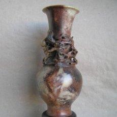 Antigüedades: JARRÓN JADE. DRAGÓN CHINO BUENA SUERTE TIEN LU ..SIGLO XIX. INTERESANTE .. Lote 47575020