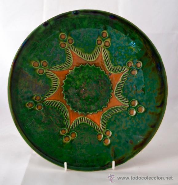PLATO DE CERAMICA VIDRIADA DE TITO UBEDA (Antigüedades - Porcelanas y Cerámicas - Úbeda)