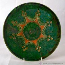 Antigüedades: PLATO DE CERAMICA VIDRIADA DE TITO UBEDA. Lote 47576303