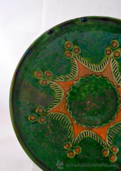Antigüedades: PLATO DE CERAMICA VIDRIADA DE TITO UBEDA - Foto 2 - 47576303