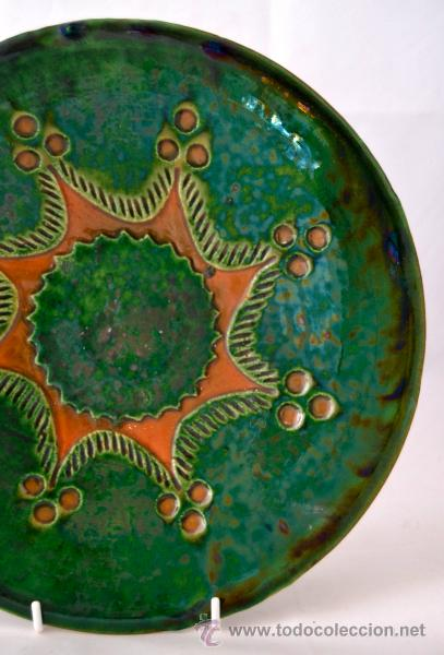 Antigüedades: PLATO DE CERAMICA VIDRIADA DE TITO UBEDA - Foto 3 - 47576303