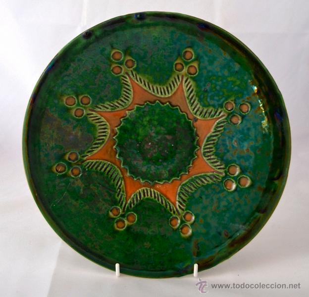 Antigüedades: PLATO DE CERAMICA VIDRIADA DE TITO UBEDA - Foto 4 - 47576303