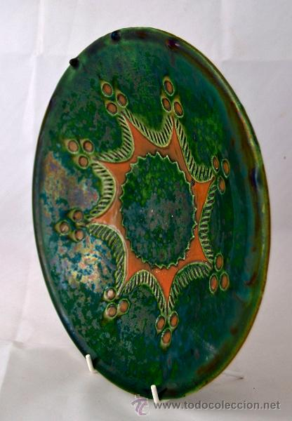 Antigüedades: PLATO DE CERAMICA VIDRIADA DE TITO UBEDA - Foto 5 - 47576303