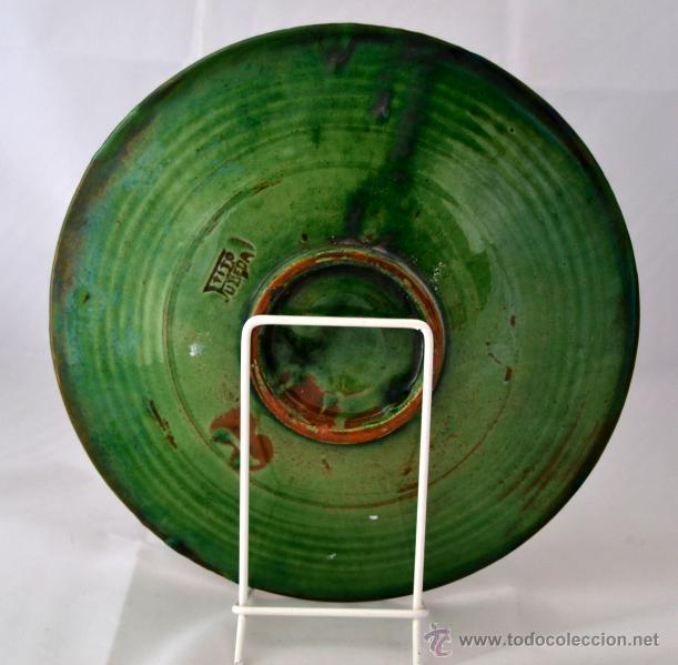 Antigüedades: PLATO DE CERAMICA VIDRIADA DE TITO UBEDA - Foto 6 - 47576303