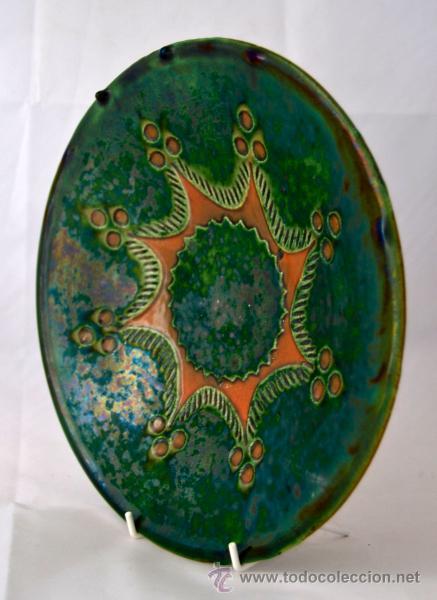 Antigüedades: PLATO DE CERAMICA VIDRIADA DE TITO UBEDA - Foto 8 - 47576303