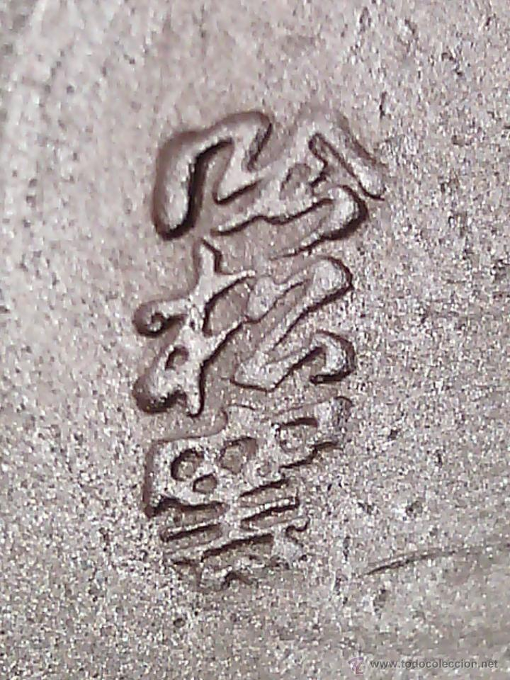 Antigüedades: JARRÓN EN ARCILLA YISING PÚRPURA. SELLO EN LA BASE. CHINA. PP. S. XX - Foto 4 - 47576596