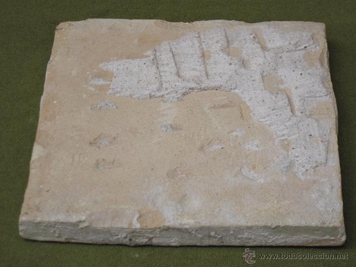 Antigüedades: AZULEJO GRANDE Y ANTIGUO DE VALENCIA / ALCORA. SIGLO XVIII-XIX. - Foto 5 - 47579871