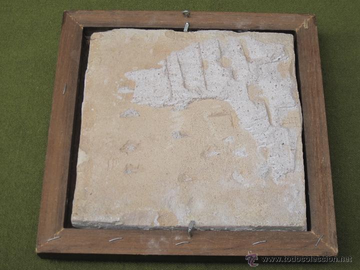 Antigüedades: AZULEJO GRANDE Y ANTIGUO DE VALENCIA / ALCORA. SIGLO XVIII-XIX. - Foto 6 - 47579871
