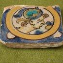 Antigüedades: AZULEJO ANTIGUO ( HOLAMBRILLA ). SEVILLA / TRIANA. SIGLO XVIII.. Lote 47580469