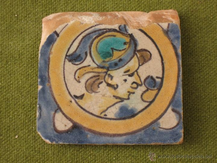 Antigüedades: AZULEJO ANTIGUO ( HOLAMBRILLA ). SEVILLA / TRIANA. SIGLO XVIII. - Foto 2 - 47580469