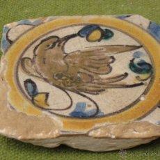 Antigüedades: AZULEJO ANTIGUO ( HOLAMBRILLA ). PAJARO - SEVILLA / TRIANA . SIGLO XVIII.. Lote 47580590