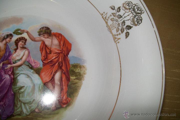 Antigüedades: GRAN PLATO HONDO CHINA OPACA SEVILLA - Foto 5 - 36066748