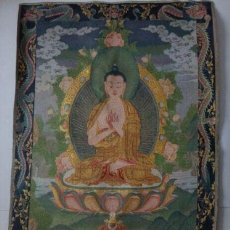 Antigüedades: PRECIOSO THANGKA DE SEDA, BORDADO A MANO - ARTE BUDISTA - BUDA BUDDHA . Lote 47590675