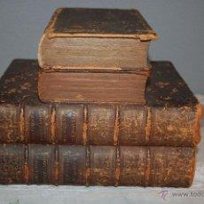 Antigüedades: CURIOSA LICORERA - CAMUFLADA EN EL INTERIOR DE LIBROS DE MADERA Y PIEL - SIGLO XIX. Lote 47591415