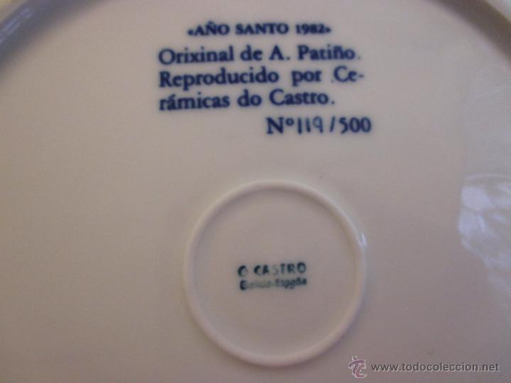 Antigüedades: CASTRO SARGADELOS - PLATO AÑO SANTO COMPOSTELANO 1985 EJEMPLAR Nº119/500 -27CM - DIBUJO DE PATIÑO + - Foto 2 - 47591720