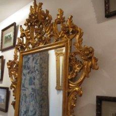 Antigüedades: AUTENTICO ESPEJO CORNUCOPIA DEL S.XIX. LUNA ORIGINAL. Lote 47595609