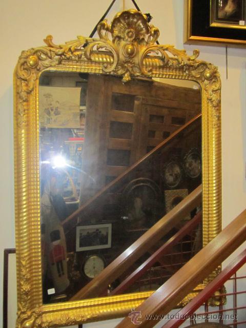 gran espejo, estilo isabelino, con marco de mad - Comprar Espejos ...