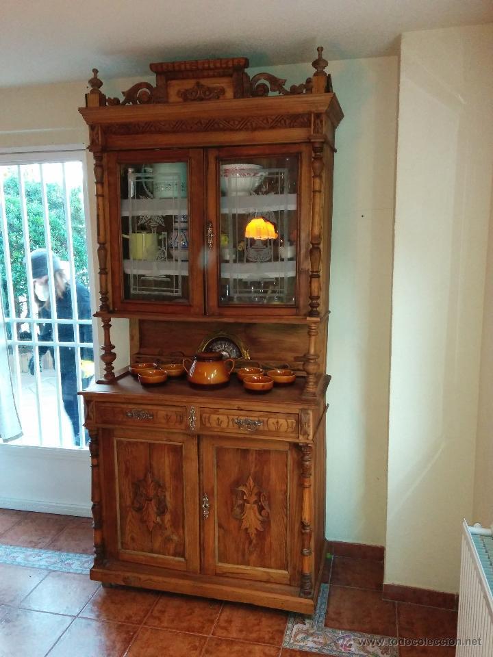 antiguo mueble aparador de cocina en pino idea vendido
