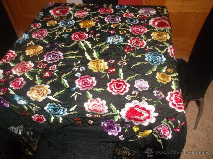 Antigüedades: precioso manton de manila antiguo - Foto 2 - 156786364