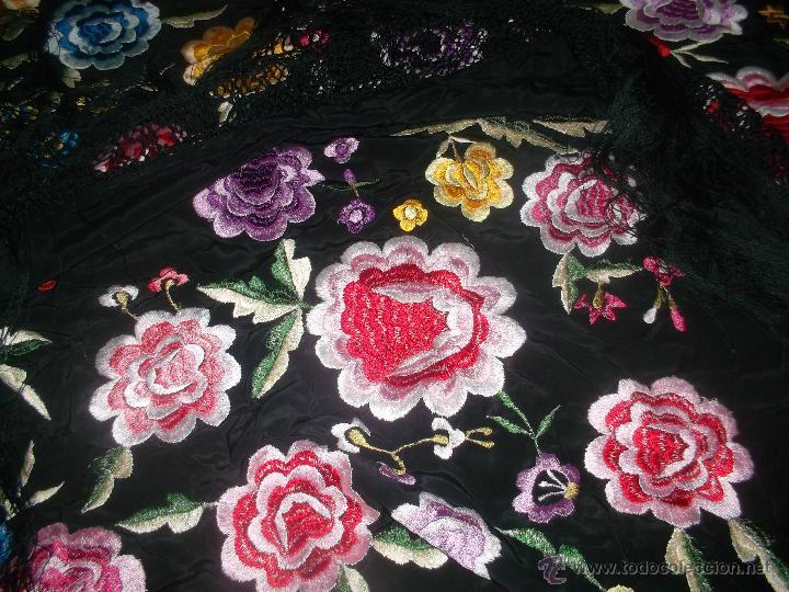 Antigüedades: precioso manton de manila antiguo - Foto 3 - 156786364