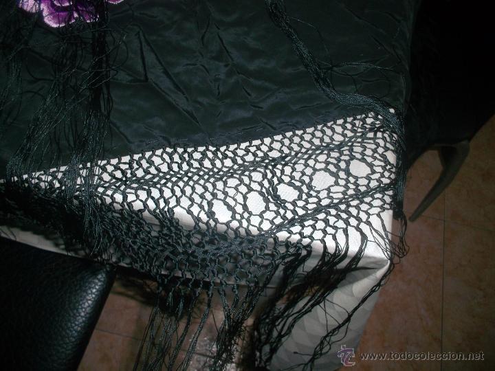 Antigüedades: precioso manton de manila antiguo - Foto 4 - 156786364