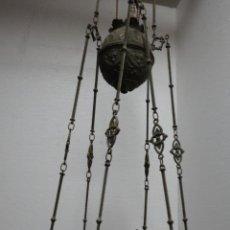 Antigüedades: LÁMPARA 6 BRAZOS EN METAL PLATEADO L3. Lote 47664936