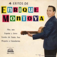 Discos de vinilo: ENRIQUE MONTOYA - 4 EXITOS, EP, MIO, MIO + 3 ,AÑO 1961. Lote 47678734