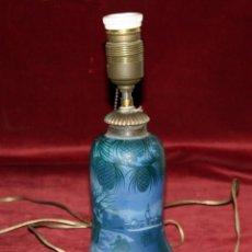 Antigüedades: LAMPARA DE ÉPOCA ART NOUVEAU DE MANUFACTURA FRANCESA, DEL PRESTIGIOSO ARTISTA DEVEZ. Lote 47696584