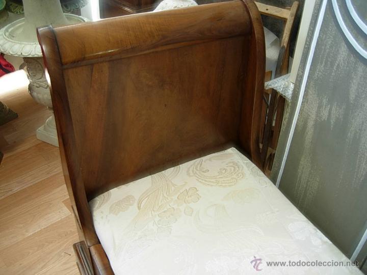 Antigüedades: FANTASTICA CAMA O SOFA BARCO DE NOGAL - Foto 2 - 216884057