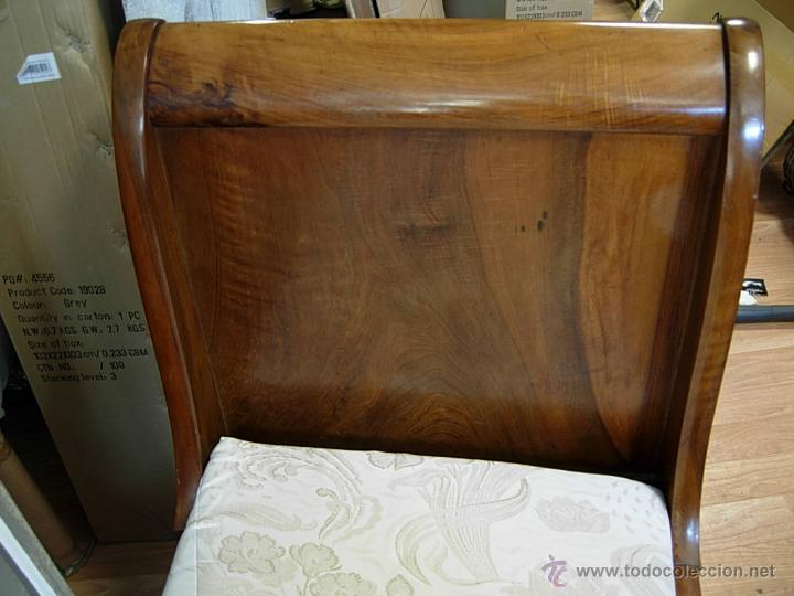 Antigüedades: FANTASTICA CAMA O SOFA BARCO DE NOGAL - Foto 11 - 57132381