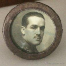 Antigüedades: MARCO PORTA RETRATO PLATA INGLESA PUNZONADA (FOTO MILITAR). Lote 47703289