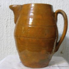 Antigüedades: JARRA DE BARRO VIDRIADO 1500 ML. Lote 47705207