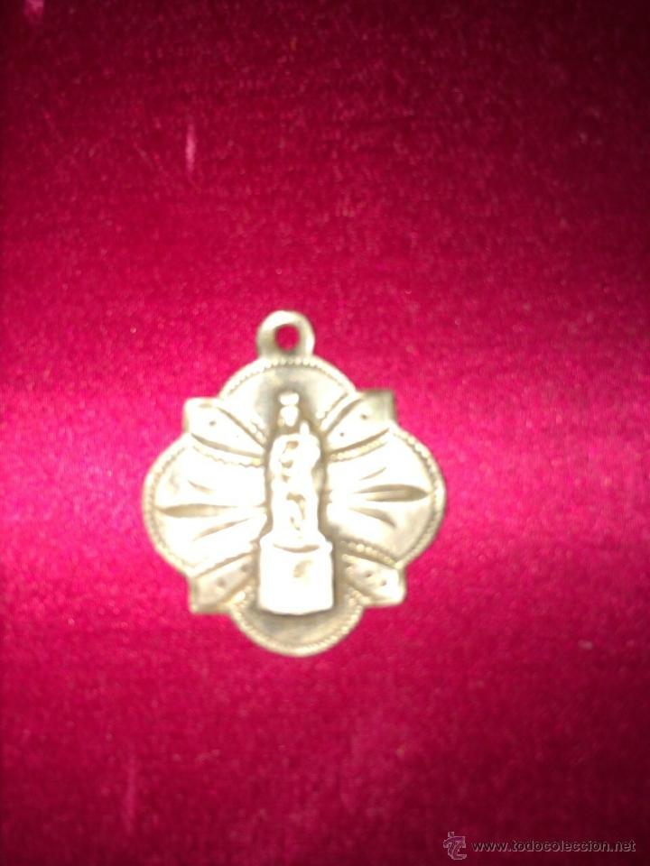 RARA Y CENTENARIA MEDALLA RELIGIOSA EN PLATA. CORONACIÓN VIRGEN DEL PILAR. (Antigüedades - Religiosas - Medallas Antiguas)
