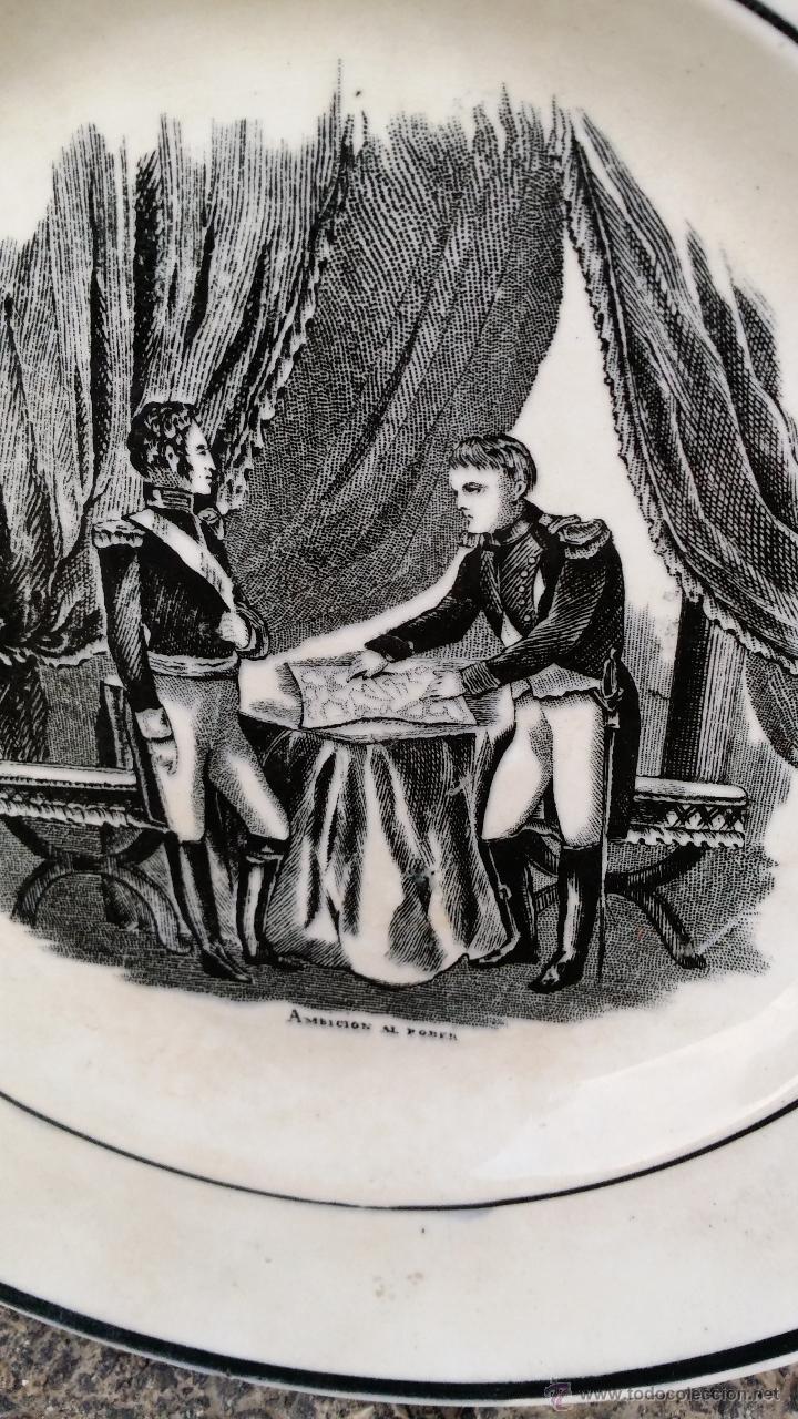 Antigüedades: antiguo plato de cartagena, ambicion al poder, sellado. - Foto 2 - 47729195