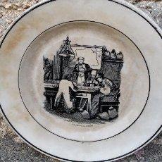 Antigüedades: ANTIGUO PLATO DE CARTAGENA, AMBICION AL DINERO, SELLADO.. Lote 47729319