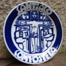 Antigüedades: CASTRO SARGADELOS - PLATO SANTIAGO DE COMPOSTELA - EJEMPLAR Nº126/500 -27CM - DIBUJO DE PATIÑO +. Lote 47738218