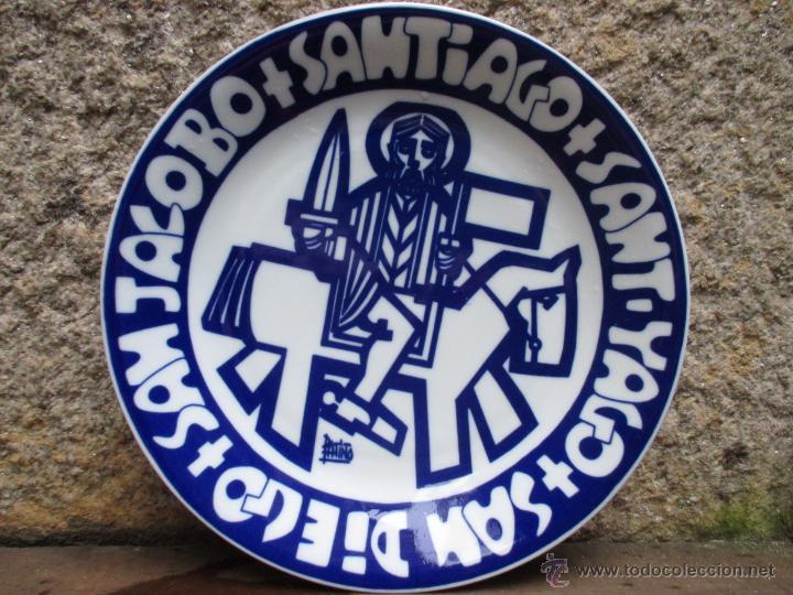 CASTRO SARGADELOS - PLATO SANT YAGO, SAN DIEGO... - EJEMPLAR Nº146/500 -27CM - DIBUJO DE PATIÑO + (Antigüedades - Porcelanas y Cerámicas - Sargadelos)