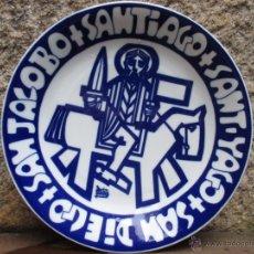 Antigüedades: CASTRO SARGADELOS - PLATO SANT YAGO, SAN DIEGO... - EJEMPLAR Nº146/500 -27CM - DIBUJO DE PATIÑO +. Lote 47738312