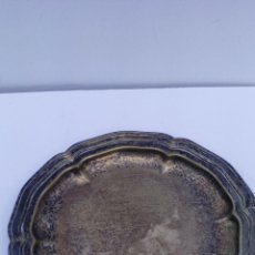 Antigüedades: PLATO DE METAL PLATEADO. Lote 47745295