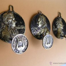 Antigüedades: COLGADORES (3) .MÚSICOS CLÁSICOS. MOZART ,LISZT Y J. STRAUSS. DE BRONCE. PPIOS. S XX.. Lote 47745330