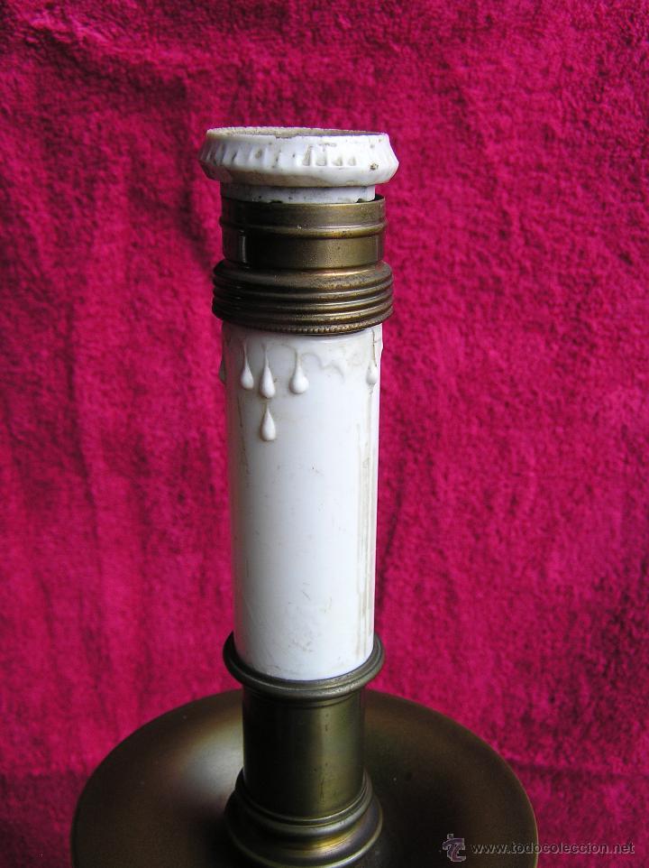 Antigüedades: HACHEROS BRONCE DE ALTAR . GRANDES 63 cm .ESTILO ITALIANO . S. XVIII - XIX . ELECTRIFICADOS. - Foto 16 - 47745858