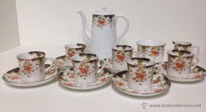 Juego de caf de porcelana inglesa siglo xix comprar - Porcelana inglesa antigua ...