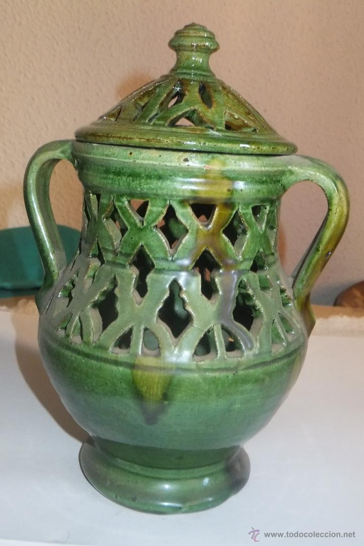 JARRA INCENSARIO ALFARERIA POPULAR UBEDA ( JAÉN ) (Antigüedades - Porcelanas y Cerámicas - Úbeda)