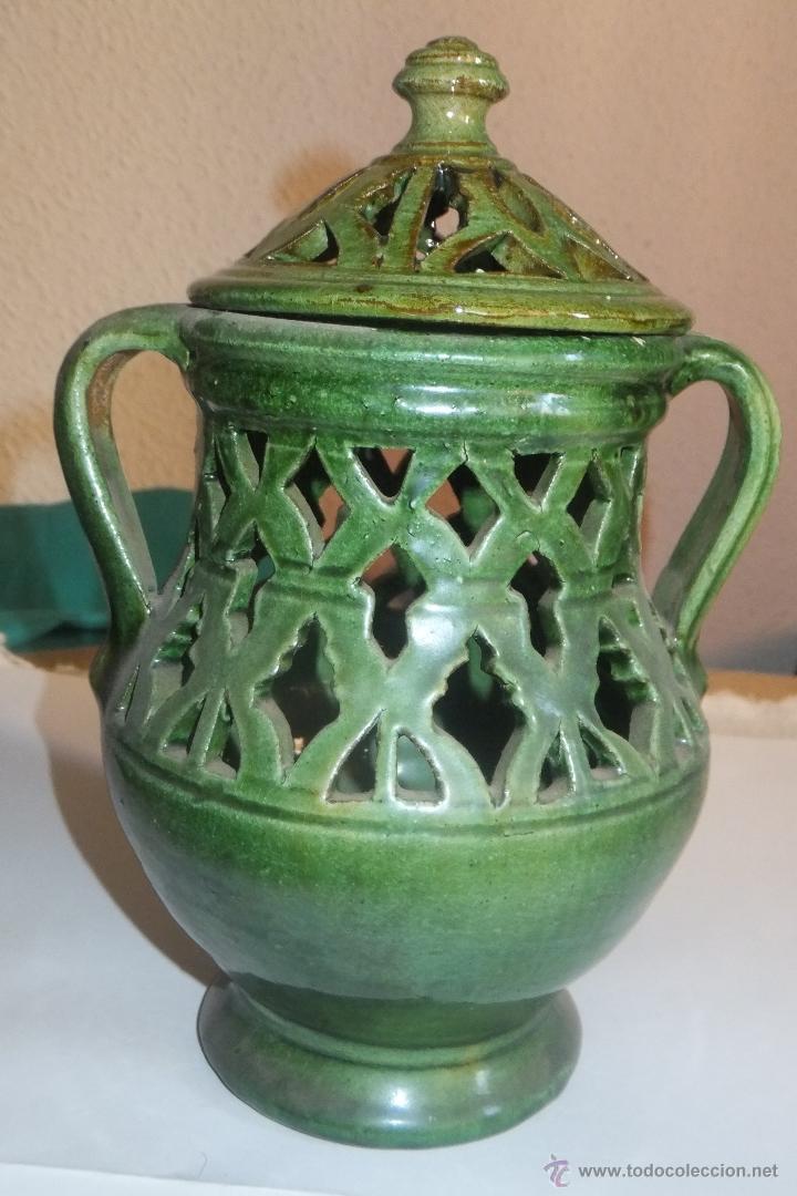 Antigüedades: Jarra Incensario alfareria popular Ubeda ( Jaén ) - Foto 2 - 47756499